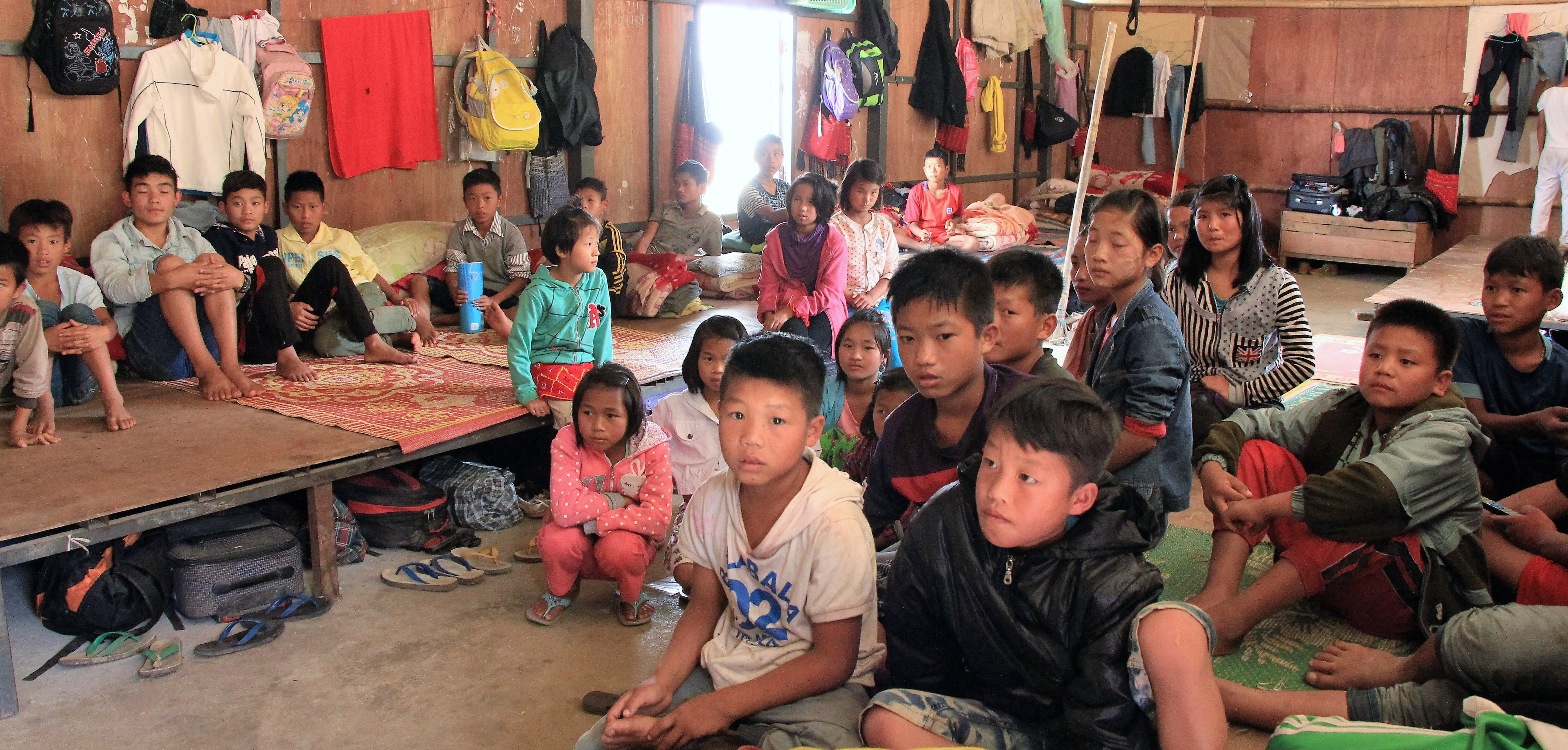children in dorm